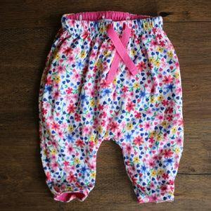 Reversible floral and polka dot pants